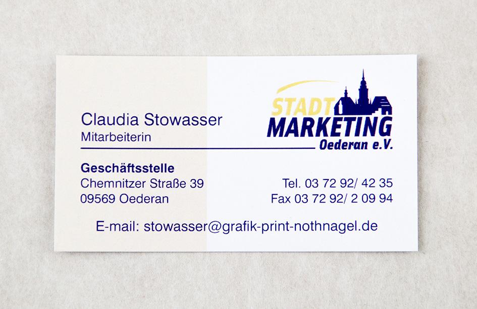 Visitenkarten Grafik Print Service Nothnagel
